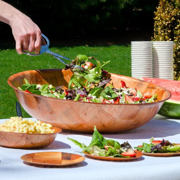 """20"""" Woven Wood Salad Bowl Main Image 7"""