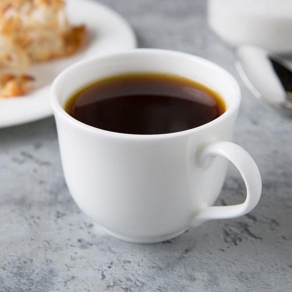 Syracuse 911190016 International 4 oz. Bone China Round A.D. Coffee Cup - 36/Case