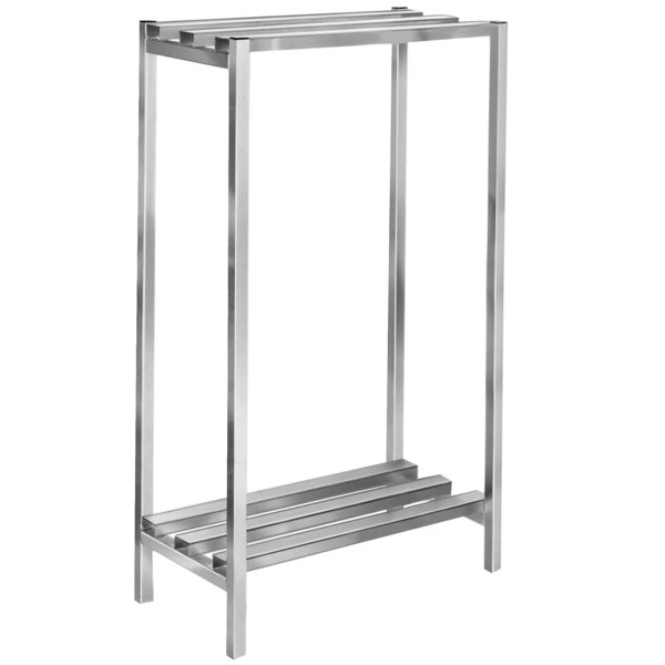 "Channel DR2042-2 42"" x 20"" x 64"" Two Shelf Aluminum Dunnage Shelving Unit - 2500 lb. capacity"