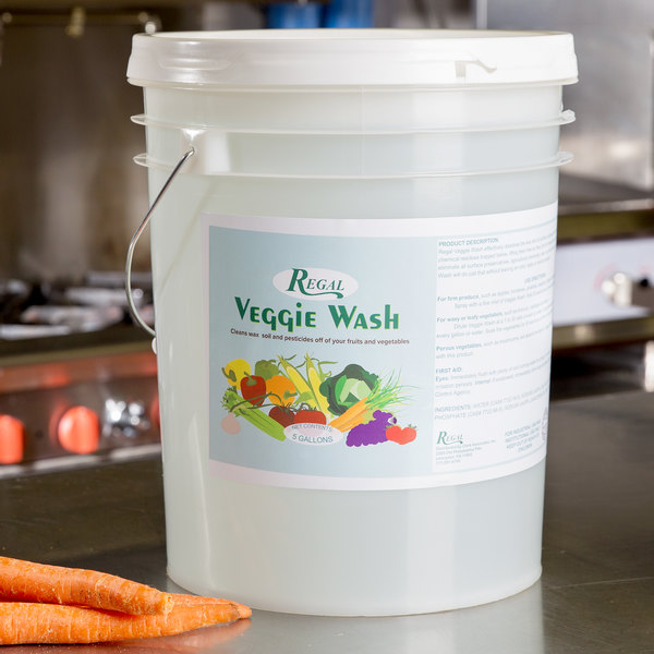 Regal Foods Veggie Wash - Fruit and Vegetable Wash - 5 Gallon Pail