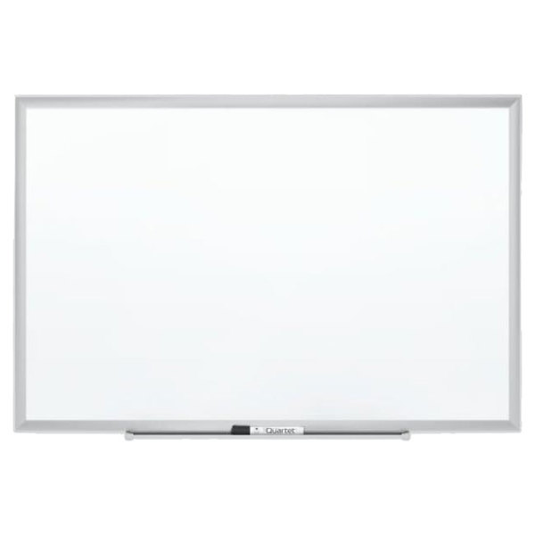 "Quartet 2544 48"" x 36"" White Porcelain Dry Erase Board with Silver Aluminum Frame"