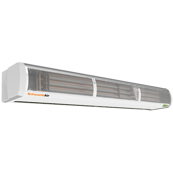 """Schwank AC-HE93-48 92 1/2"""" Surface Mounted Air Curtain with Electric Heater - 480V, 3 Phase, 12 / 24 kW"""