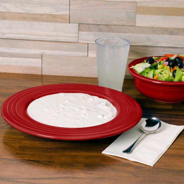 Homer Laughlin 462326 Fiesta Scarlet 21 oz. Pasta Bowl - 12/Case