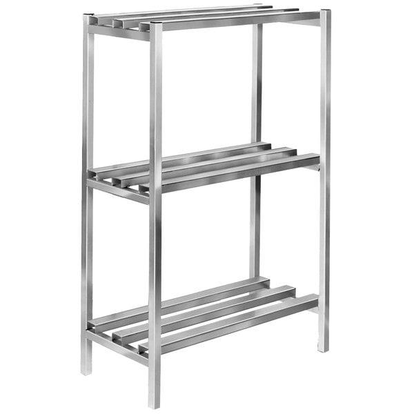 "Channel DR2048-3 48"" x 20"" x 64"" Three Shelf Aluminum Dunnage Shelving Unit - 2500 lb. capacity Main Image 1"
