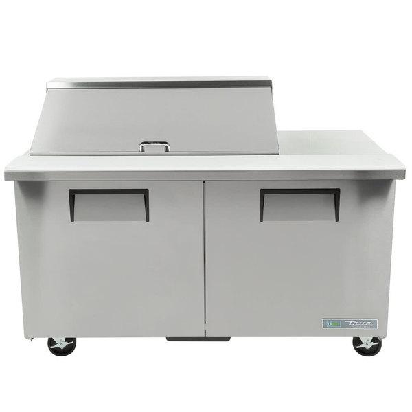 True TSSU-60-18M-B-HC 60 inch 2 Door Mega Top ADA Height Refrigerated Sandwich Prep Table