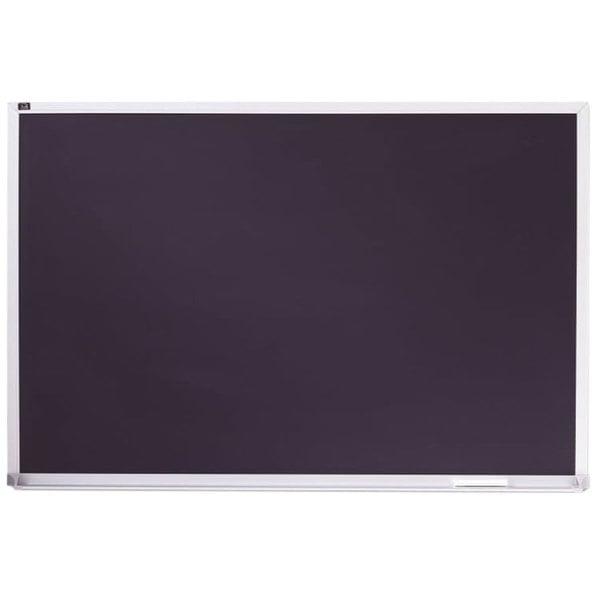 "Quartet PCA408B 96"" x 48"" Black Magnetic Porcelain Chalkboard with Aluminum Frame Main Image 1"