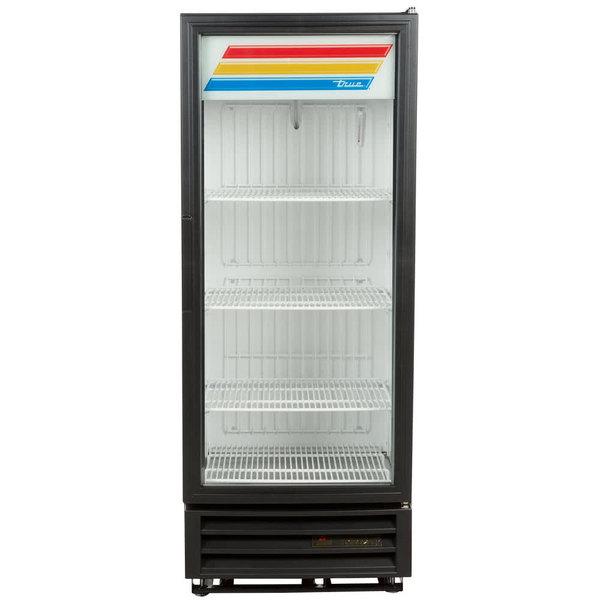 True GDM-12F-HC-LD 25 inch Black Glass Door Merchandiser Freezer with LED Lighting