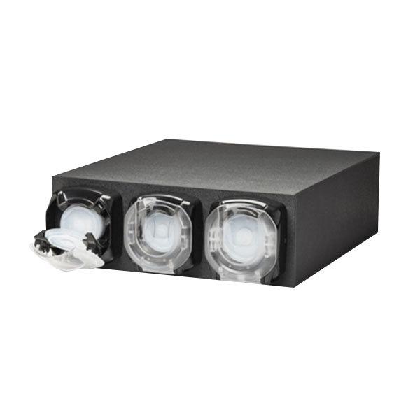 Vollrath G3H-LLL LidSaver™ 2 Countertop 3 Slot Horizontal Black Standard Lid Dispenser Cabinet