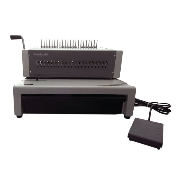Swingline GBC 27170 CombBind C800pro Gray 500-Sheet Electric Binding Machine