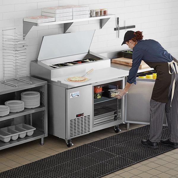 "Avantco PICL1-HC 49"" 1 Door Refrigerated Pizza Prep Table Main Image 7"