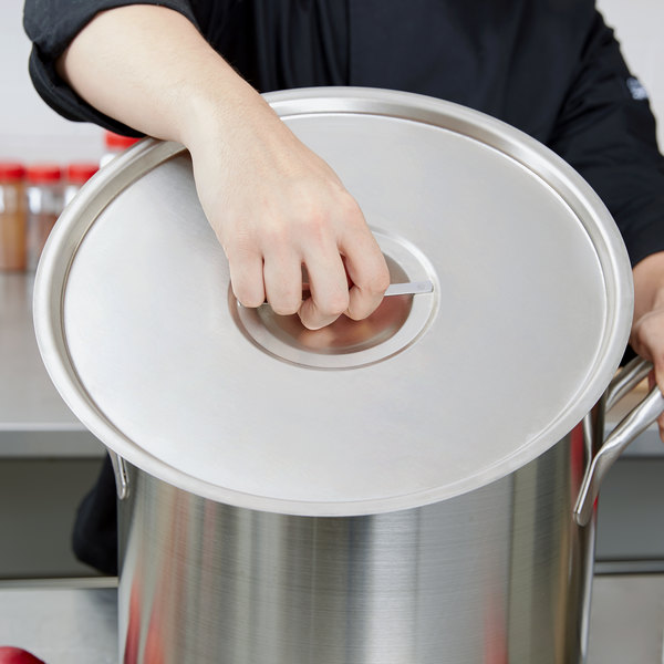 """Vollrath 77682 Stainless Steel Pot / Pan Cover - 14"""""""