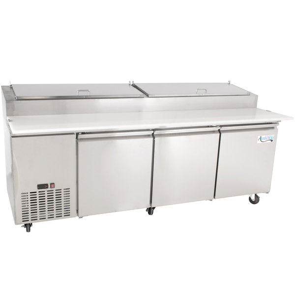 "Avantco PICL3-HC 93"" 3 Door Refrigerated Pizza Prep Table"