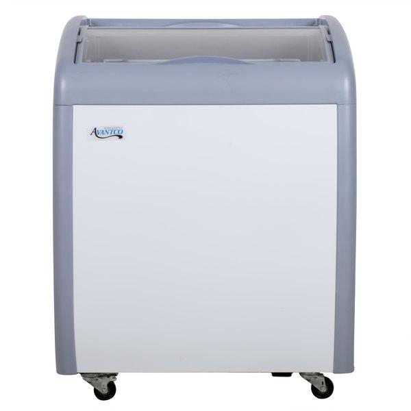 "Avantco ICFC6-HC 26 1/4"" Curved Top Display Freezer"