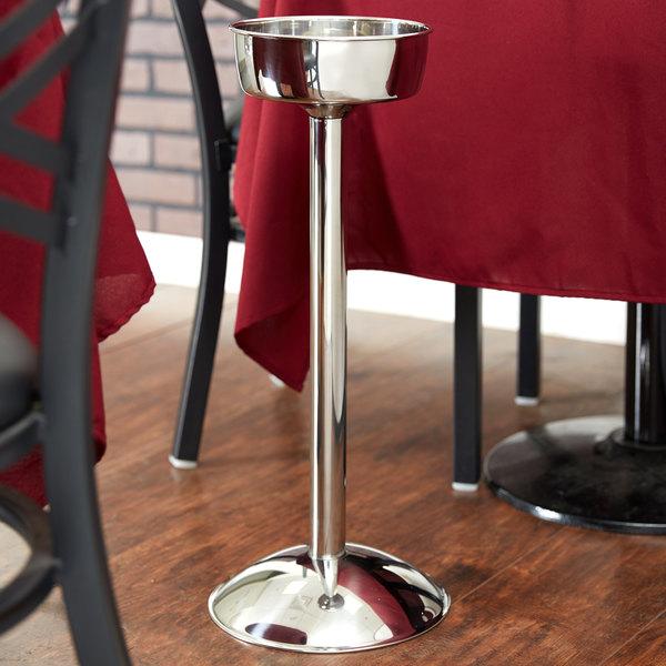 Vollrath 47611 Stainless Steel Single Bottle Wine Bucket Stand Main Image 5