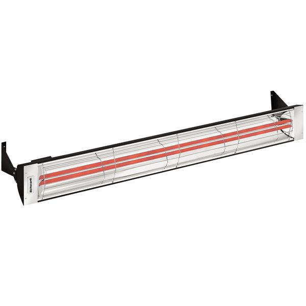 Schwank ES-6061-24 2 Stage Electric Black Outdoor Patio Heater - 240V, 6000W