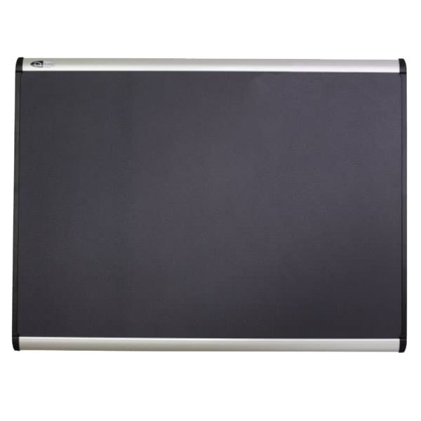 "Quartet MB544A 48"" x 36"" Prestige Plus Magnetic Fabric Bulletin Board with Aluminum Frame"