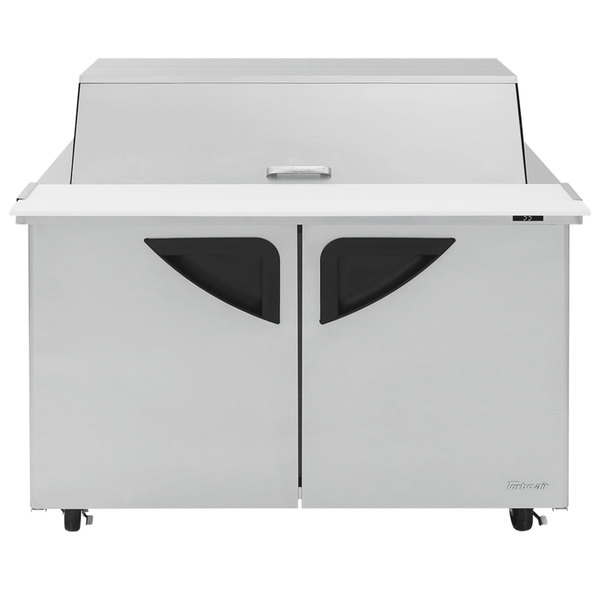 "Turbo Air TST-48SD-18-DS 48"" 2 Door Mega Top Dual Sided Refrigerated Sandwich Prep Table"