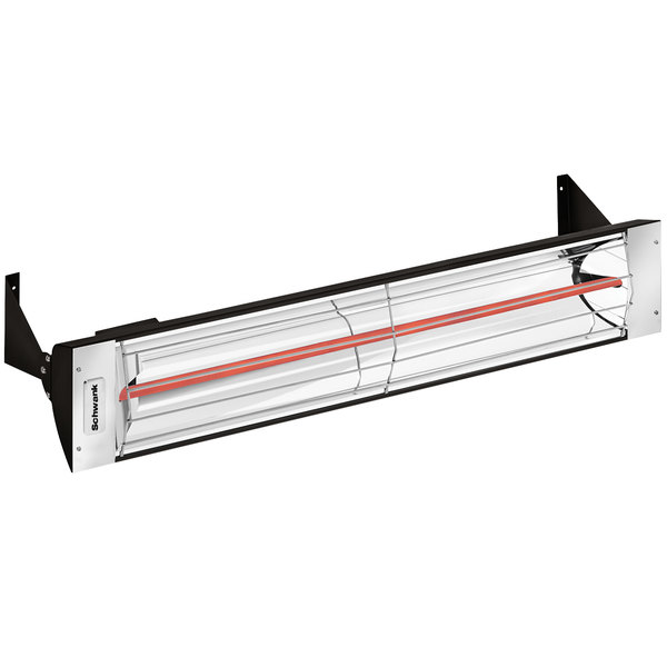 Schwank ES-1533-12 Electric Black Outdoor Patio Heater - 120V, 1500W