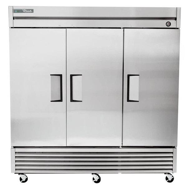 True TS-72F-HC 78 inch Stainless Steel Solid Door Reach-In Freezer