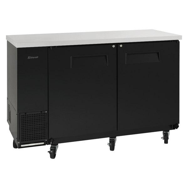 "Turbo Air TBB-24-60SB-N6 Super Deluxe 61"" Solid Door Narrow Back Bar Refrigerator Main Image 1"