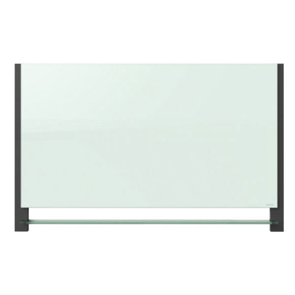 """Quartet G5028BA 50"""" x 28"""" White Magnetic Glass Markerboard with Aluminum Frame"""