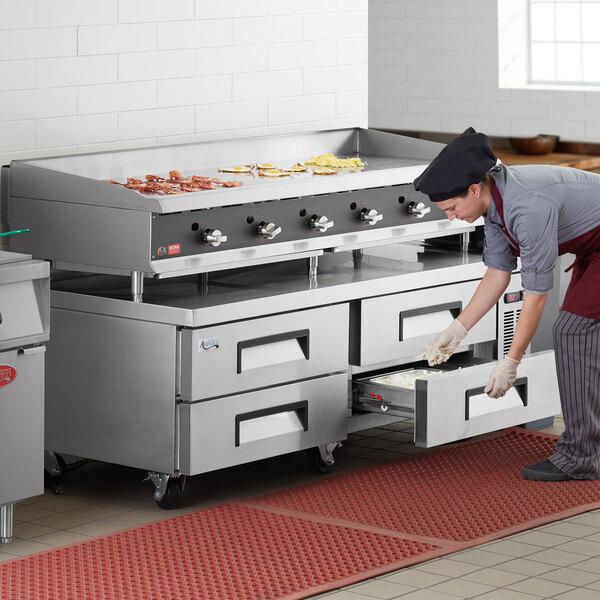 "Avantco CBE-72-HC 72"" 4 Drawer Refrigerated Chef Base Main Image 6"