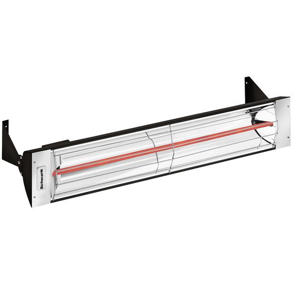 Schwank ES-1533-20 Electric Black Outdoor Patio Heater - 208V, 1500W