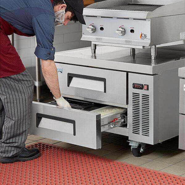 "Avantco CBE-36-HC 36"" 2 Drawer Refrigerated Chef Base Main Image 5"