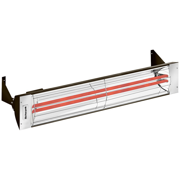 Schwank ES-5039-24 2 Stage Electric Mineral Bronze Indoor/Outdoor Patio Heater - 240V, 5000W Main Image 1