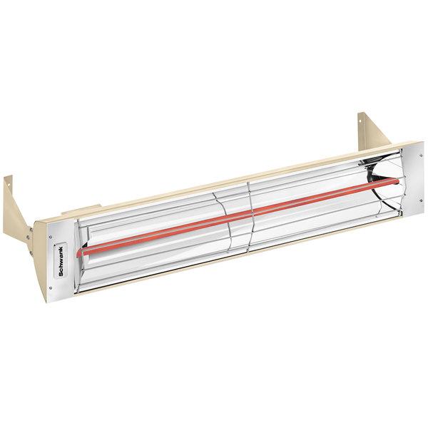 Schwank ES-1533-12 Electric Beige Outdoor Patio Heater - 120V, 1500W