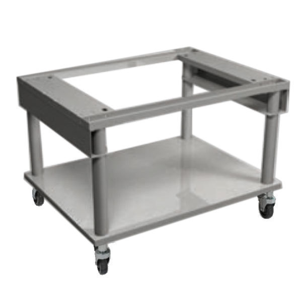 """MagiKitch'n MK5225-1512002-C 24"""" x 26 1/2"""" Mobile Stainless Steel Equipment Stand with Undershelf Main Image 1"""