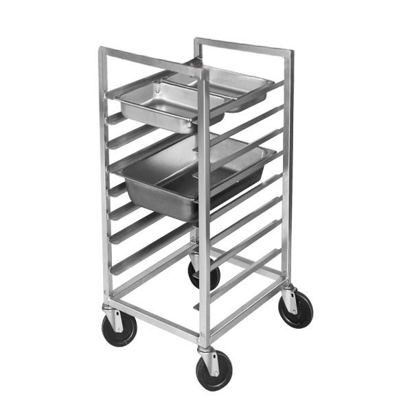 Channel ETPR-3S3 16 Pan Side Load Aluminum Steam Table Pan Rack - Assembled