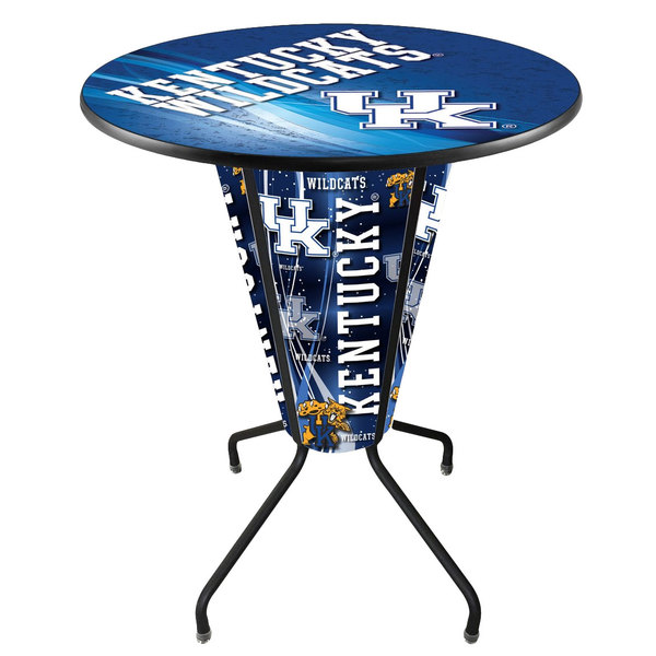 "Holland Bar Stool L218B42Kentky36RUKY-UK-D2 University of Kentucky 36"" Round Bar Height LED Pub Table"