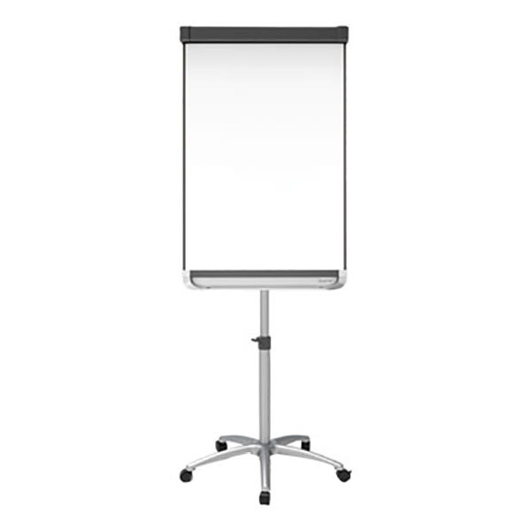 "Quartet ECM32P2 Prestige 2 67"" to 77"" Silver and White Mobile Magnetic Whiteboard Presentation Easel"