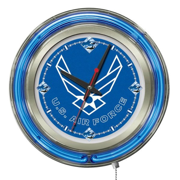 "Holland Bar Stool Clk15AirFor United States Air Force 15"" Neon Clock Main Image 1"