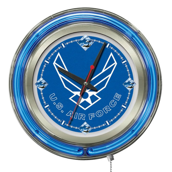 "Holland Bar Stool Clk15AirFor United States Air Force 15"" Neon Clock"