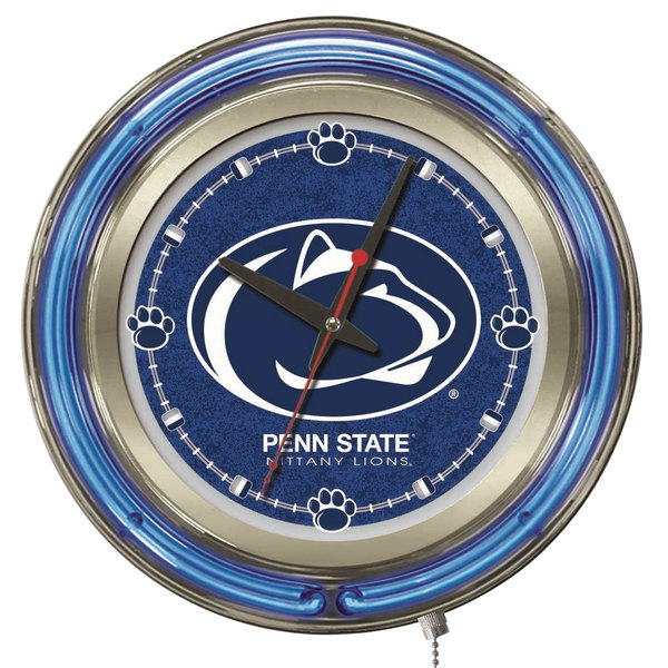"Holland Bar Stool Clk15PennSt Penn State University 15"" Neon Clock"