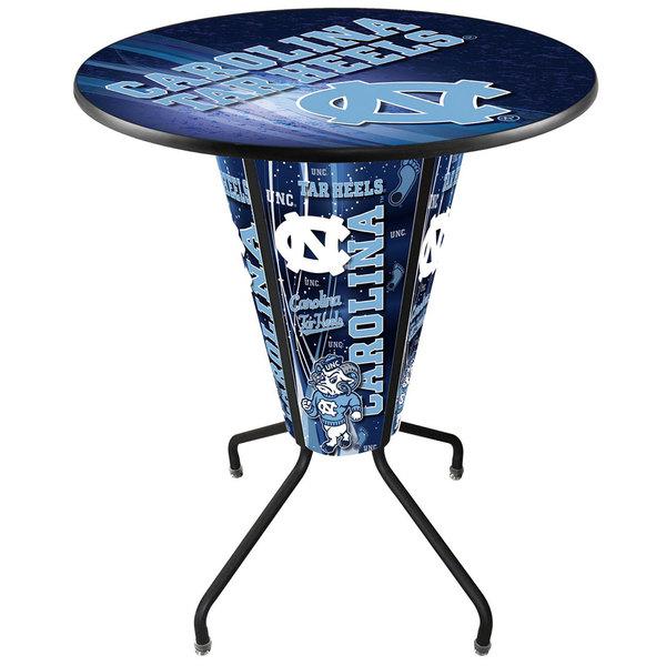 "Holland Bar Stool L218B42NorCar36RNorCar-D2 University of North Carolina 36"" Round Bar Height LED Pub Table"
