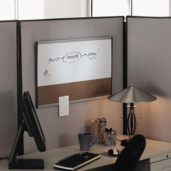 "Quartet ARCCB3018 Arc 18"" x 30"" Magnetic Cork Bulletin / Whiteboard with Silver Aluminum Frame"