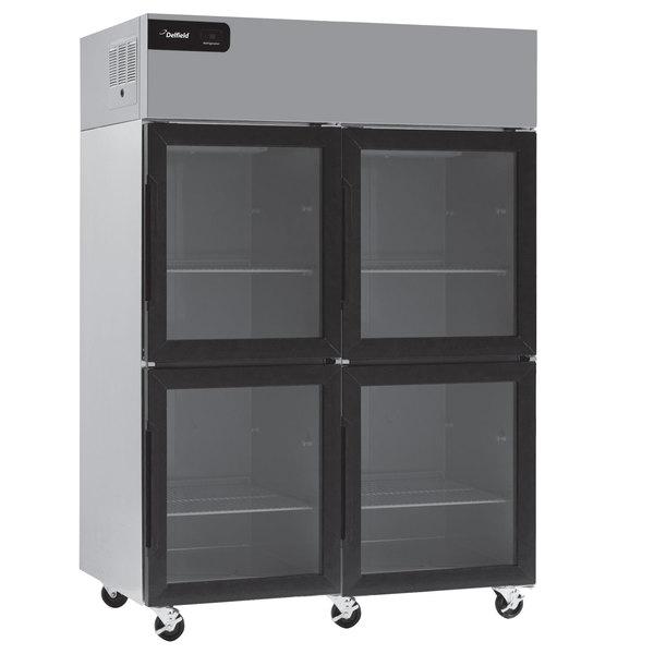 "Delfield GBSR2P-GH Coolscapes 55 1/4"" Glass Half Door Reach-In Refrigerator - 46 Cu. Ft."