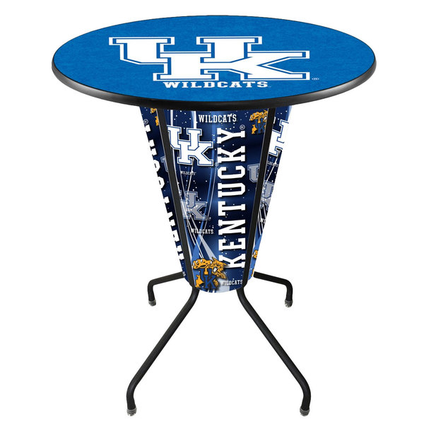 "Holland Bar Stool L218B42Kentky36RUKY-UK University of Kentucky 36"" Round Bar Height LED Pub Table"