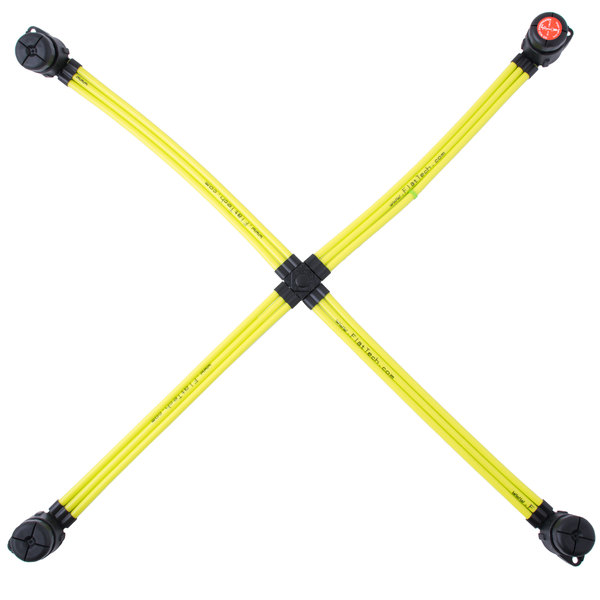 "FLAT Tech FPB5012A05 25"" x 25"" Yellow Table Pad Main Image 1"