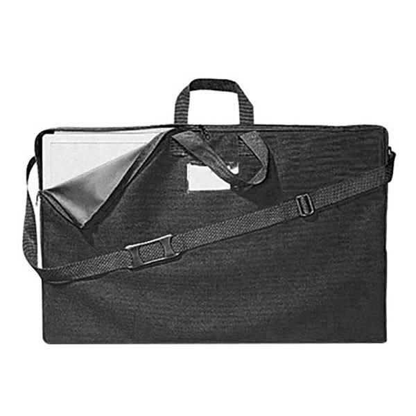 "Quartet 156366 18 1/2"" x 2 3/4"" x 30"" Black Tabletop Display Canvas Carrying Case Main Image 1"