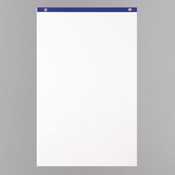 """Quartet LP50 21"""" x 33 3/4"""" White Conference Cabinet Flipchart Pad - 4/Case Main Image 1"""