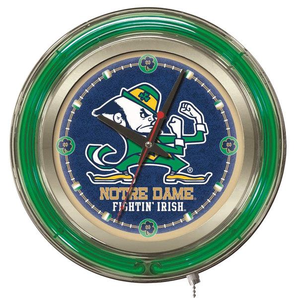"Holland Bar Stool Clk15ND-Lep University of Notre Dame 15"" Neon Clock"
