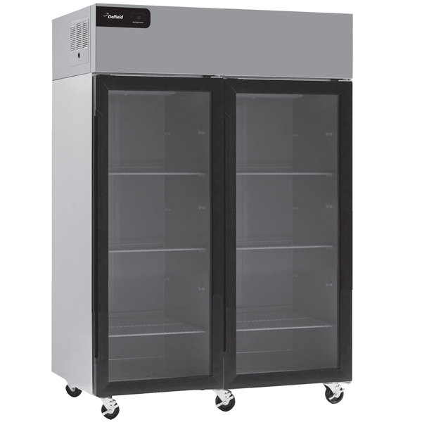 """Delfield GCR2P-G Coolscapes 55 1/4"""" Glass Door Reach-In Refrigerator - 46 Cu. Ft. Main Image 1"""