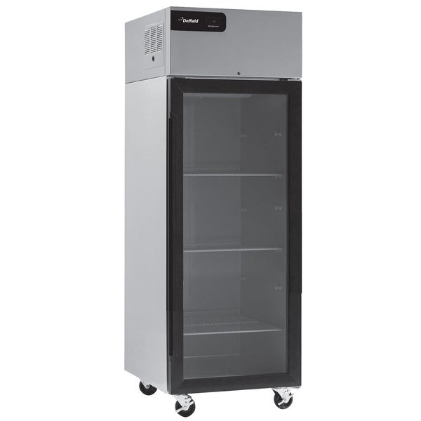 "Delfield GBR1P-G Coolscapes 27 7/16"" Glass Door Reach-In Refrigerator - 21 Cu. Ft."
