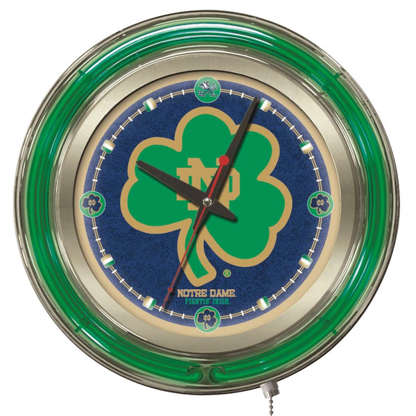 "Holland Bar Stool Clk15ND-Shm University of Notre Dame 15"" Neon Clock"