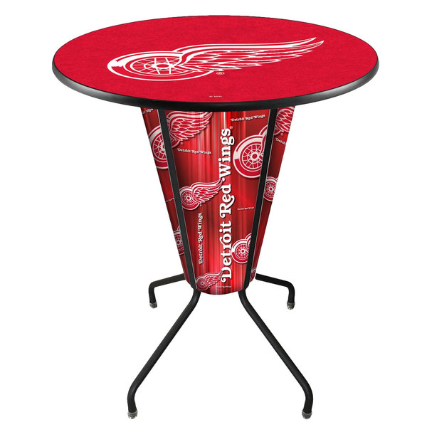 Holland Bar Stool L218B42DetRed36RDetRed Detroit Red Wings 36  Round Bar Height LED Pub Table  sc 1 st  Webstaurant Store & Bar Stool L218B42DetRed36RDetRed Detroit Red Wings 36
