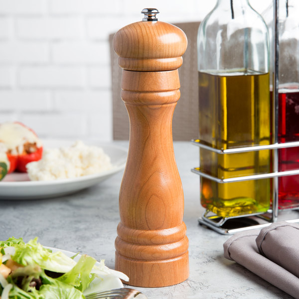 "Fletchers' Mill FED08PM11 Federal 8"" Cherry Wooden Pepper Mill"